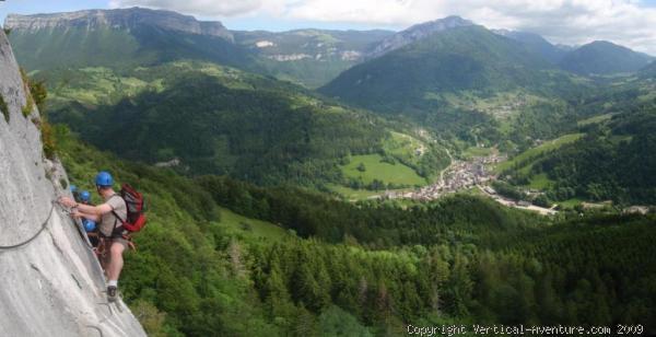 Vue panoramique dans la Via Ferrata