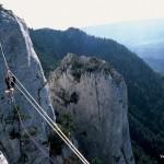 Tyrolienne au parcours honegger rocher des 3 pucelles