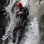 Toboggan au Canyon d'Angon, futur marié en action, Lac d'Annecy