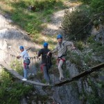 Via ferrata de la bastille Grenoble pour Caterpillar