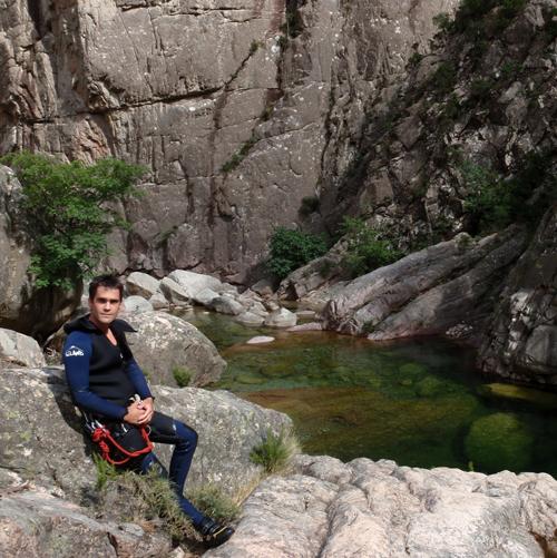 Mathieu, canyon de la Vacca, Corse