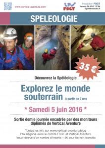FSGT et Vertical aventure spéléo du 5 JUIN 2016